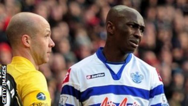 Stephane Mbia reacts after being sent off against Arsenal