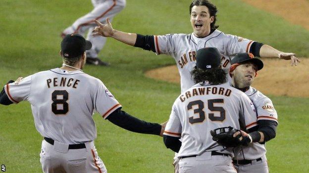 San Francisco Giants celebrate