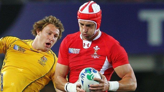 Wales lock Luke Charteris is set to face Australia once more