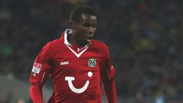 Senegal and Hannover 96's Mame Biram Diouf
