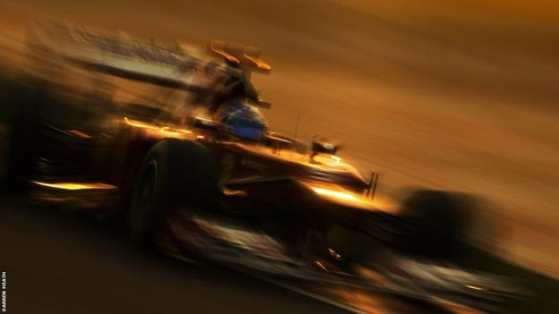 Fernando Alonso at the Indian Grand Prix