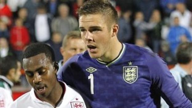 Jack Butland and Danny Rose