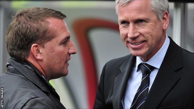 Brendan Rodgers and Alan Pardew