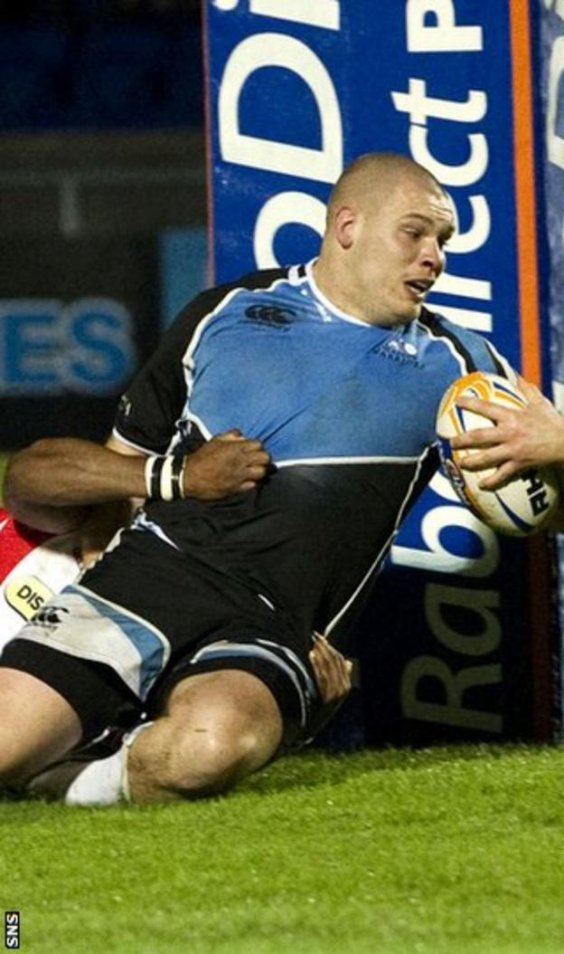 Reid powers over the line for Glasgow's second try at Scotstoun
