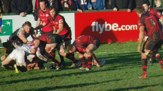 Jersey v Plymouth Albion action