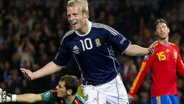 Steven Naismith scored in a 3-2 defeat to Spain