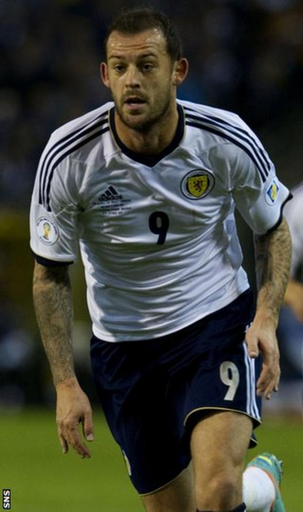 Steven Fletcher returned for two games after a dispute with Levein