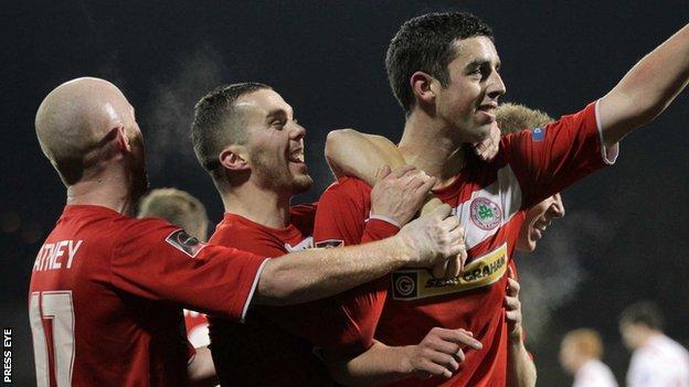 Jody Gormley scored Cliftonville's equaliser