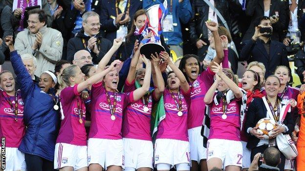 Lyon win 2012 UEFA Women's Champions League