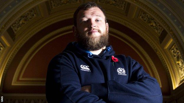 Scotland prop Ryan Grant