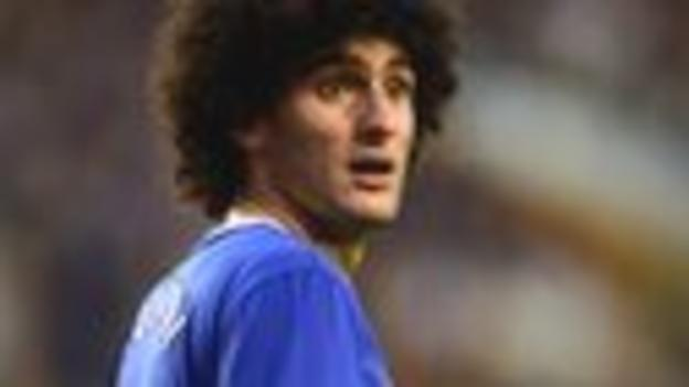 Marouanne Fellaini of Everton