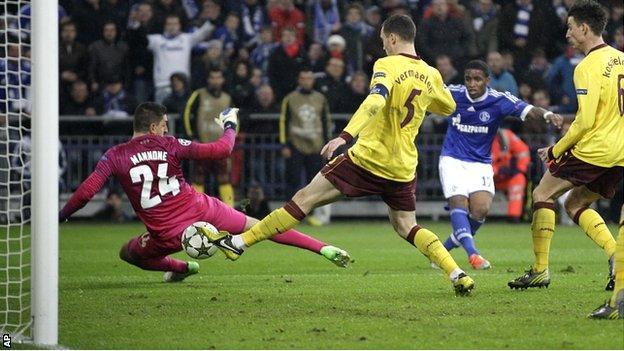 Arsenal concede against Schalke