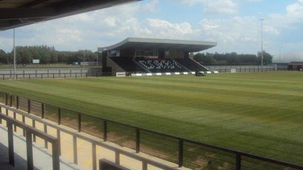 Steel Park Stadium at Corby.