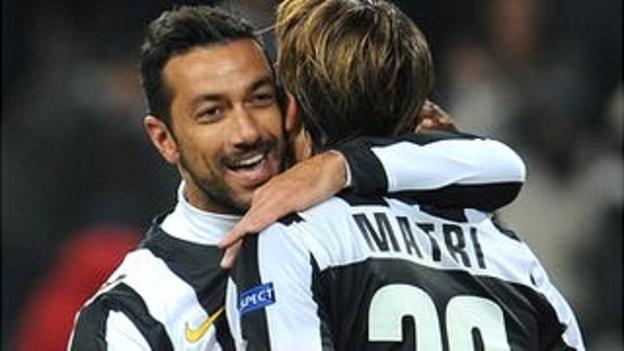 Fabio Quagliarella celebrates for Juventus