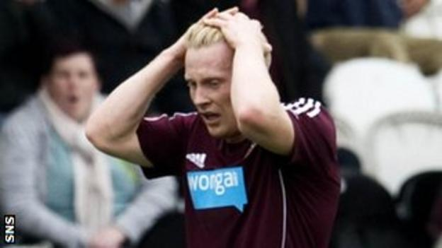 Hearts winger Andy Driver