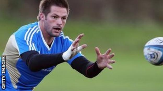 Richie McCaw in training ahead of New Zealand's game at Murrayfield