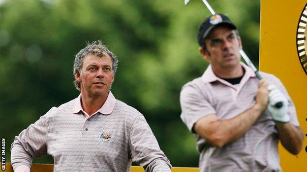 Clarke and McGinley played in the 2002, 2004 and 2006 European Ryder Cup teams