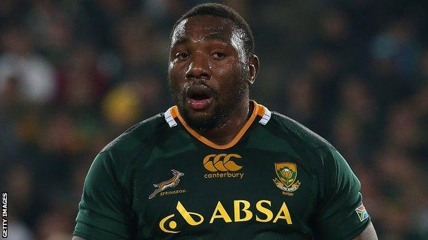 Tendai Mtawarira is ruled out for the Springboks