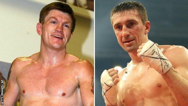 Ricky Hatton and Vyacheslav Senchenko