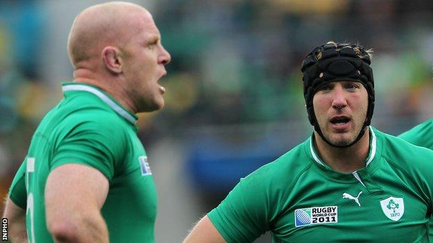 Ireland forwards Paul O'Connell and Stephen Ferris