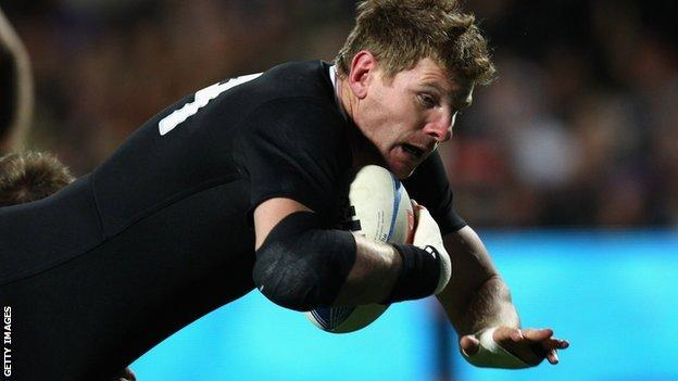 New Zealand flanker Adam Thomson