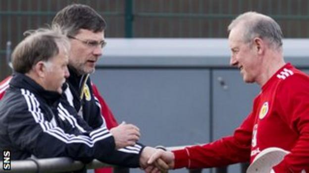 The Scotland baton has passed from Levein to Stark for the trip to Luxembourg