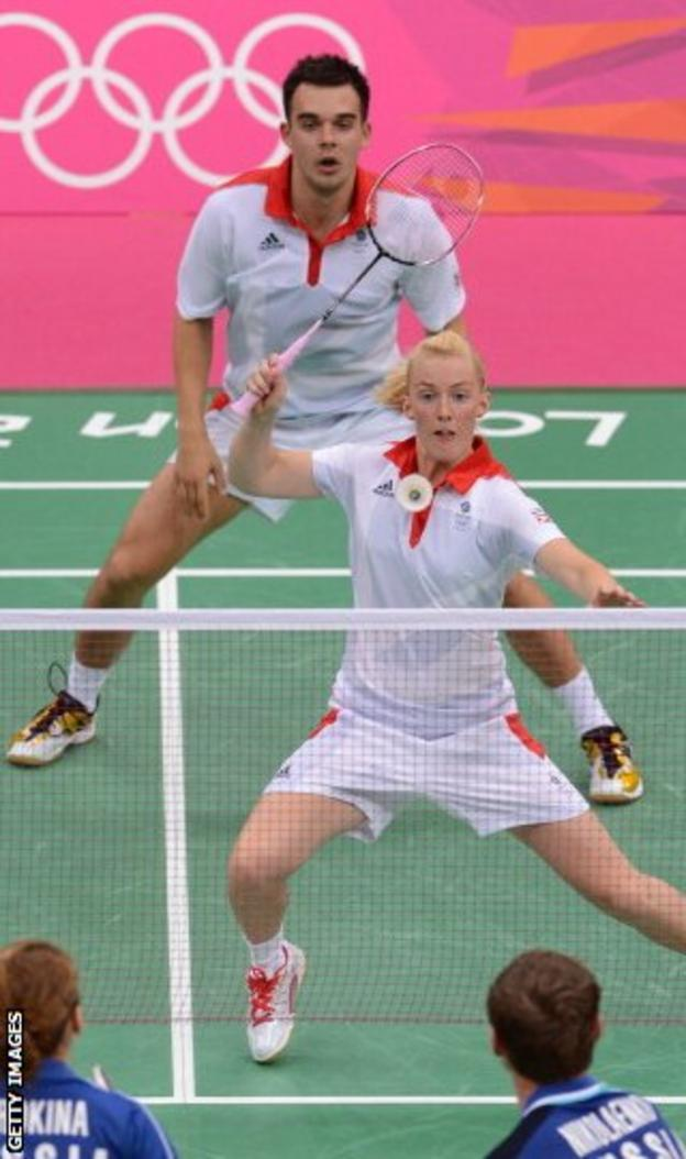 Adcock and Bankier in action during the 2012 Olympics in London