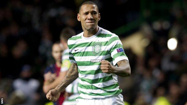 Wilson in action for Celtic