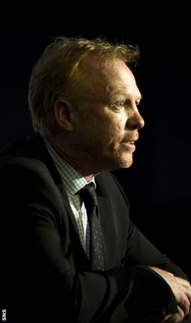 McLeish was speaking at a coaching seminar at Hampden Park