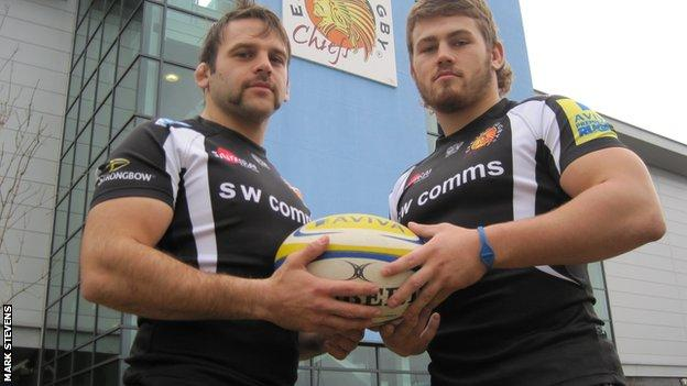 Chris Whitehead (left) and Luke Cowan-Dickie