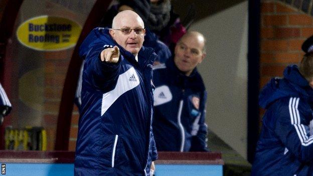 Hearts head coach John McGlynn