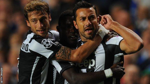Claudio Marchisio (left) and Fabio Quagliarella