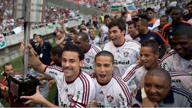 Fluminense celebrate title win