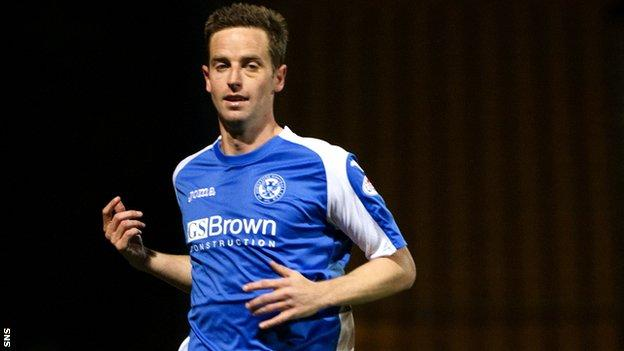 St Johnstone striker Steven MacLean