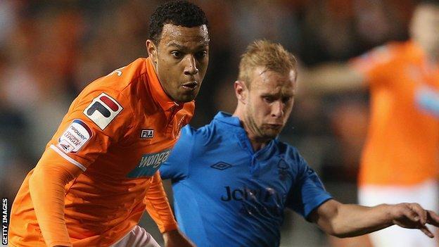 Blackpool winger Matty Phillips