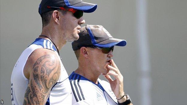 Kevin Pietersen & Andy Flower