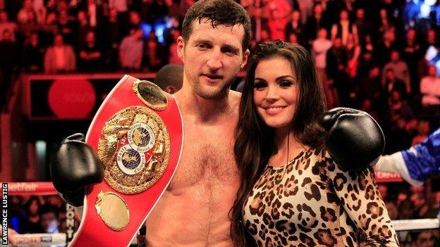 Carl Froch and his partner Rachael