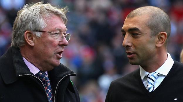 Sir Alex Ferguson and Roberto Di Matteo