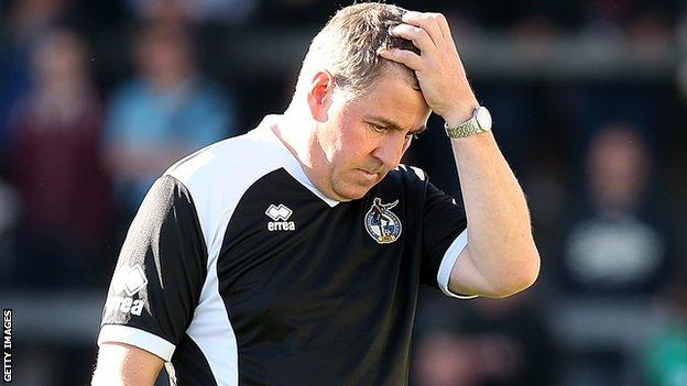 Bristol Rovers chairman sympathises with Mark McGhee - BBC Sport