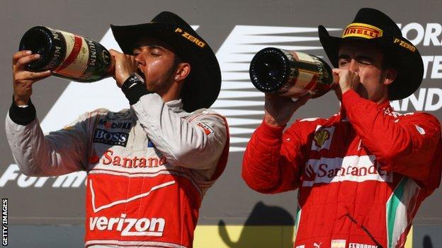 Lewis Hamilton & Fernando Alonso at the US GP