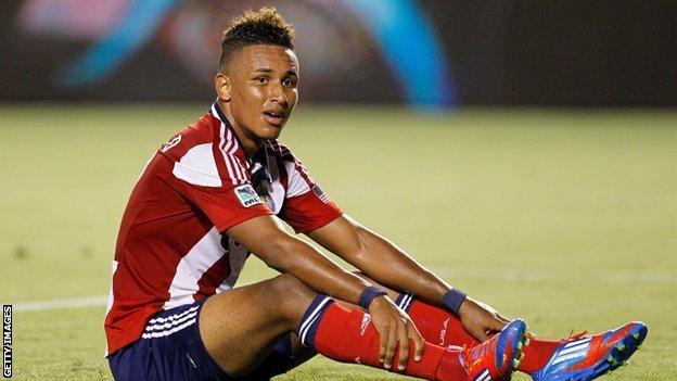 Chivas USA striker Juan Agudelo