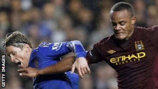 Vincent Kompany bossed Fernando Torres throughout the game