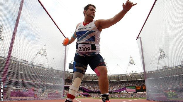 Aled Sion Davies won Paralympic gold at London 2012 in the F42 discus