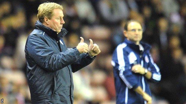 QPR boss Harry Redknapp (left) and Sunderland manager Martin O'Neill (right)