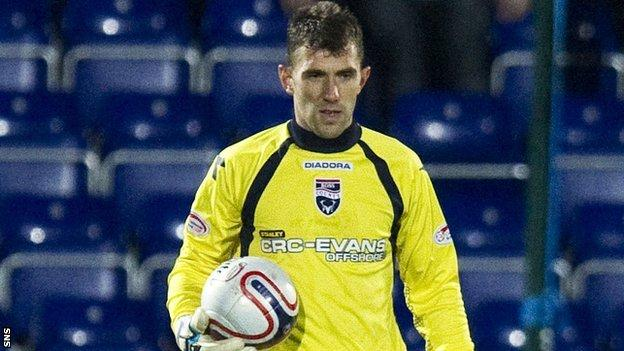 Ross County goalkeeper Mark Brown