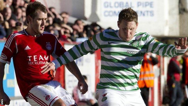 Aberdeen against Celtic