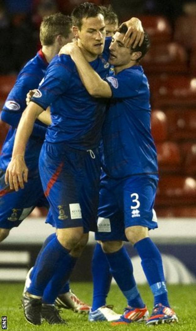 Inverness reached their highest-ever position - second - after beating Aberdeen 3-2