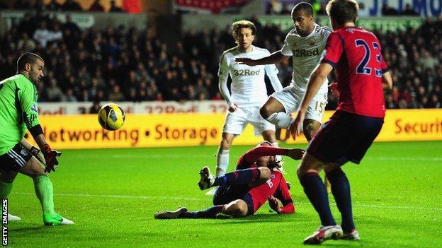 Wayne Routledge scores for Swansea
