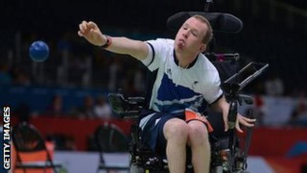 Daniel Bentley in action at the London Paralympics