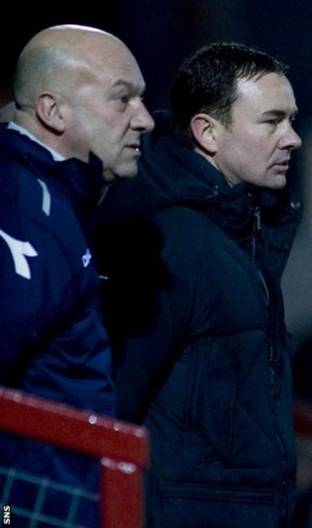 Assistant Neale Cooper and manager Derek Adams seek a derby Cup win